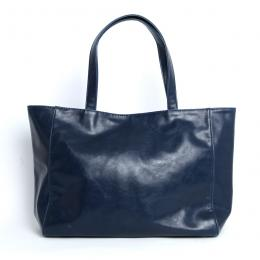Vintage PU Leather Simple Tote Bag